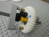 LEGO®-compatible z44 bevel gear w/ z24 inner ring 3d printed alternate epicyclic gearing with perpendicular axles