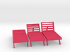 Poolside Chairs (3x), 1:48 dollhouse / O scale 3d printed