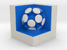LuminOrb 2.8 -  Cube Stand 3d printed Shapeways render of Cube Display Stand with CURIOSITY in Full Color Sandstone