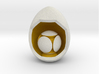 LuminOrb 2.4 - Egg Stand 3d printed Shapeways render of Egg Display Stand with GENEROSITY in Full Color Sandstone