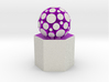 LuminOrb 1.6 - Column Stand 3d printed Shapeways render of Column Display Stand with PASSION in Full Color Sandstone