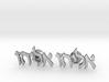 "Hebrew Name Cufflinks - ""Eliyahu"" 3d printed"