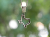 Staggered Texas Pendant 3d printed Polished Nickel Steel